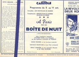 Ciné  Bioscoop Programma Cinema Capitole - Savoy - Select - Gent - Film Boite De Nuit - Publicité Cinématographique