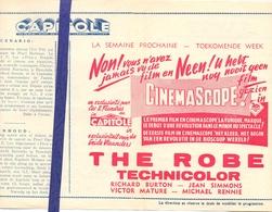 Ciné  Bioscoop Programma Cinema Capitole - Savoy - Select - Eldorado - Gent - Film The Robe - 1954 - Publicité Cinématographique