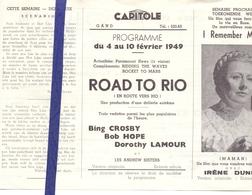 Ciné  Bioscoop Programma Cinema Capitole - Savoy - Select - Gent - Film  Road To Rio - 1949 - Cinema Advertisement