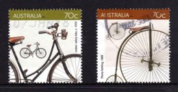 Australia 2015 Bikes Cycling Two 70c Used - Used Stamps
