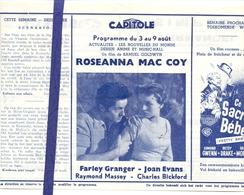 Ciné  Bioscoop Programma Cinema Capitole - Savoy - Select - Gent - Film  Roseanna Mac Coy - Publicité Cinématographique