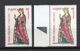 - FRANCE Variété N° 3640c - 0,50 € Reine Aliénor D'Aquitaine 2004 - COULEUR ORANGE ABSENTE - Cote 160 EUR - - Variétés Et Curiosités