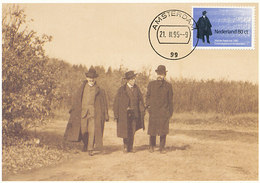 D36105 CARTE MAXIMUM CARD FD 1995 NETHERLANDS - COMPOSER GUSTAV MAHLER WITH HAT - VISITING NETHERLANDS 1906 CP ORIGINAL - Musik