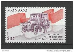 """Monaco YT 1534 """" 1er Rallye Automobile """" 1986 Neuf** - Unused Stamps"""