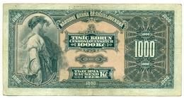 Czechoslovakia, 1000 Korun, 1932, SPECIMEN, Narodna Banka Češkoslovenska, Tisic Korun, Serie C, RARE! - Tchécoslovaquie