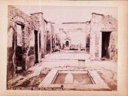 It021 POMPEI Casa Del Oeta Tragico N°121 1868-1895 Photographe Robert RIVE Fotografia Albumina 155x115mm - Foto