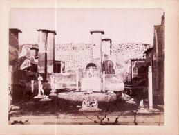 It025 POMPEI Casa Di M. Lucretius (N°119) Photographe Robert RIVE 1868-1895 Fotografia Albumina 155x115mm - Foto