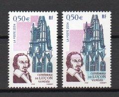 - FRANCE Variété N° 3712b - 0,50 € Cathédrale Luçon 2004 - COULEURS BLEU ET ROSE DÉCALÉES - Cote 200/250 EUR - - Variétés Et Curiosités