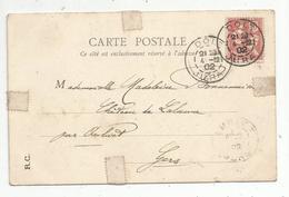 Sur Carte Postale , DOLE ,JURA ,1902 , 3 Scans , LONS LE SAUNIER , Statue De Rouget De Lisle - 1877-1920: Période Semi Moderne