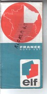 Carte Routière Publicité Elf - FRANCE NORD EST - Cachet Tampon LE FROID MONTARGOIS L. LAURENT - CALTEX - Cartes Routières