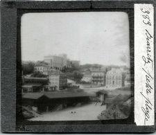 3 PLAQUES PHOTO BIARRITZ: PORT VIEUX /GRANDE PLAGE + CASINO /POSTE TELEGRAPHIQUE - Plaques De Verre