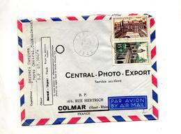 Lettre Cachet Oran Sur Quesnoy Elysee - Algérie (1924-1962)