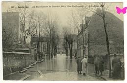ASNIERES SUR SEINE - Les Inondations De Janvier 1910 - Rue Duchesnay - Asnieres Sur Seine