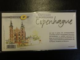 Pap - Capitales Européennes Copenhague - Lot De 4 Enveloppes Sous Blister - Tarif International - Ganzsachen