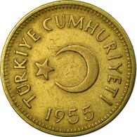 Monnaie, Turquie, 25 Kurus, 1955, TTB, Laiton, KM:886 - Turquie