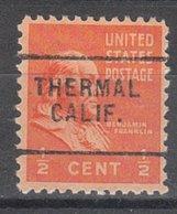 USA Precancel Vorausentwertung Preo, Locals California, Thermal 703 - Vereinigte Staaten