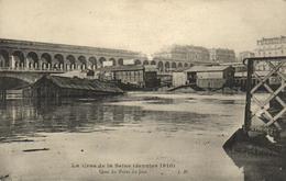 1 Cpa Crue De La Seine - Paris - Quai Du Point Du Jour (janvier 1910) - éditeur: J.H - Paris Flood, 1910