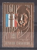 Charles De Gaulle - Timbre Or Neuf - Centrafricaine - De Gaulle (General)