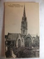 Carte Postale Pont Croix (29) Eglise Notre Dame De Roseudon - L'Abside - Le Clocher (  Petit Format Non Circulée ) - Pont-Croix