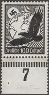 Allemagne Reich 1934 Y&T PA 51 Michel 537. Neuf Sans Charnière, Aigle 100 Pf Noir - Germany
