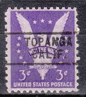 USA Precancel Vorausentwertung Preo, Locals California, Topanga 729 - Vereinigte Staaten