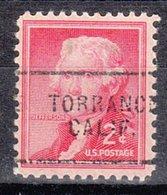 USA Precancel Vorausentwertung Preo, Locals California, Torrance 703 - Vereinigte Staaten