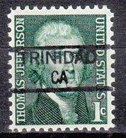 USA Precancel Vorausentwertung Preo, Locals California, Trinidad 835,5 - Vereinigte Staaten