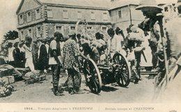 SIERRA LEONE(FREETOWN)(MILITAIRE ANGLAIS) PUBLICITE JAVEL COTELLE CROIX AU DOS - Sierra Leone