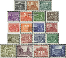 Berlin (West) 42-60 (complete Issue), Tested With Attest Unmounted Mint / Never Hinged 1949 Berlin Buildings - [5] Berlin