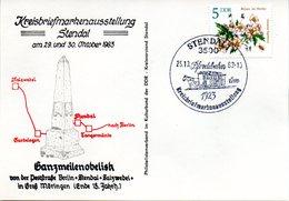 """(DDR-B2) DDR Sonderkarte """"XI. BM-Ausstellung Stendal"""", EF Mi 2737, SSt. 25.10.1983 STENDAL 1 - [6] République Démocratique"""