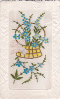 Panier De Fleurs Carte Brodée - Brodées