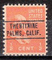 USA Precancel Vorausentwertung Preo, Locals California, Twentynine Palms 749 - Vereinigte Staaten