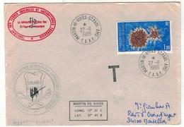 Lot De 3 Lettres Du TAAF Avec Cachet Taxe - Collections, Lots & Séries