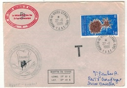 Lot De 3 Lettres Du TAAF Avec Cachet Taxe - Terres Australes Et Antarctiques Françaises (TAAF)