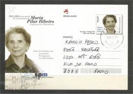 Portugal 2011 Inteiro Postal Centenário Do Nascimento De Maria Pilar Ribeiro Professora Matemática España Mathematik - Interi Postali
