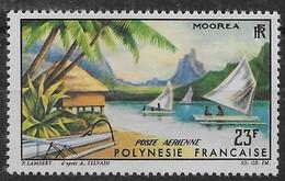 1964 Polynésie Française N° PA 9 Nf** MNH . Poste Aérienne . Mooréa . - Poste Aérienne