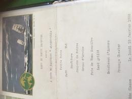 Menu Paquebot Albertville 1932 - Menus
