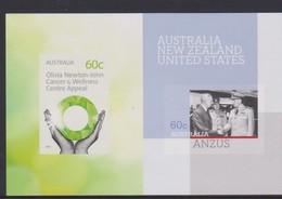 Australia ASC 2999 2012 ANZUS And Olivia Newton John Miniature Sheet ,mint Never Hinged - 2010-... Elizabeth II