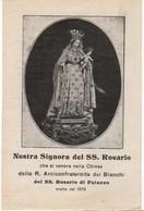 Santino Antico Nostra Signora Del SS Rosario Di Palazzo - Napoli - Religione & Esoterismo