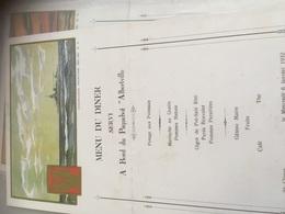 Menu Paquebot Albertville Janvier 1932 - Menus