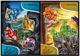 Guinea 2015 Minerals Klb + S/s MNH - Mineralen