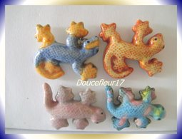 Belles Salamandres...Lot De 4 Fèves De Prime ...Ref AFF : 94-2006.. (pan 0020) - Animals