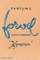 Carte Parfumée - HYMENEE De FORVIL - Perfume Cards