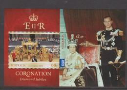 Australia ASC 3093MS 2013 QE II Coronation Diamond Jubilee, Miniature Sheet,mint Never Hinged - 2010-... Elizabeth II