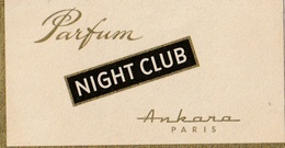 Carte Parfumée -NIGHT CLUB - ANKARA - Perfume Cards