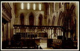 Ref 1268 - Judges Real Photo Postcard - The Choir St David's Cathedral - Pembrokeshire Wales - Montgomeryshire