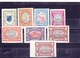 Ingrie Neuf  1920  N° 8/14 + 14 Non Dentelé  Sujets Divers - Finland