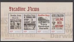 Australia ASC 3127MS 2013 Headline News, Miniature Sheet,mint Never Hinged - 2010-... Elizabeth II