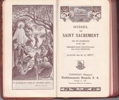 Missel Du Saint-Sacrement Mis En Harmonie Avec Les Prescriptions Pontificales Les Plus Récentes - Religion