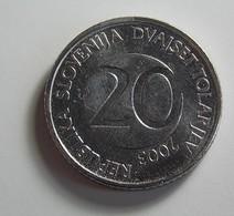 Slovenia 20 Tolarjev 2003 Varnished - Slovénie